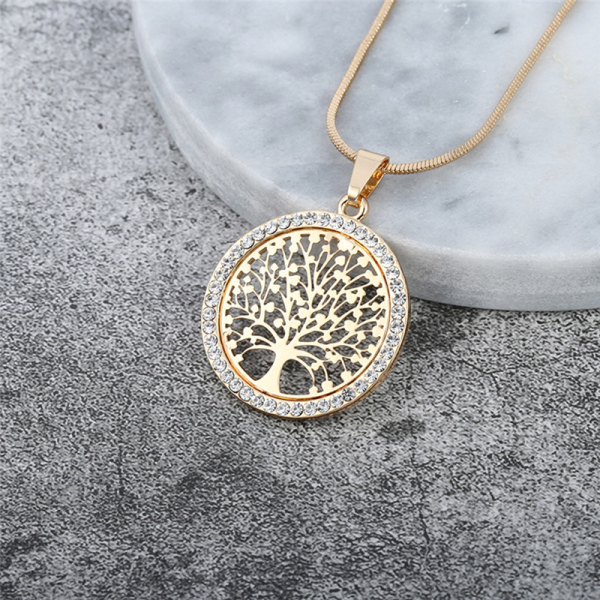 collier dorée arbre de vie